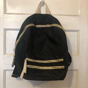 Steve Madden Black Faux Leather Backpack